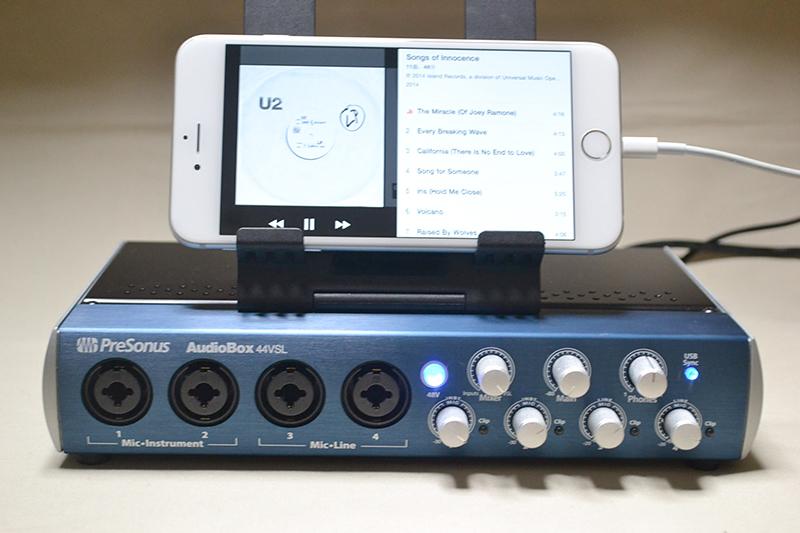 AudioBox 44VSLと接続