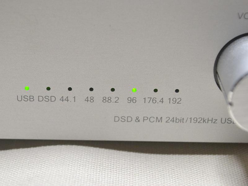 RAL-DSDHA1では96kHzにランプが点灯した