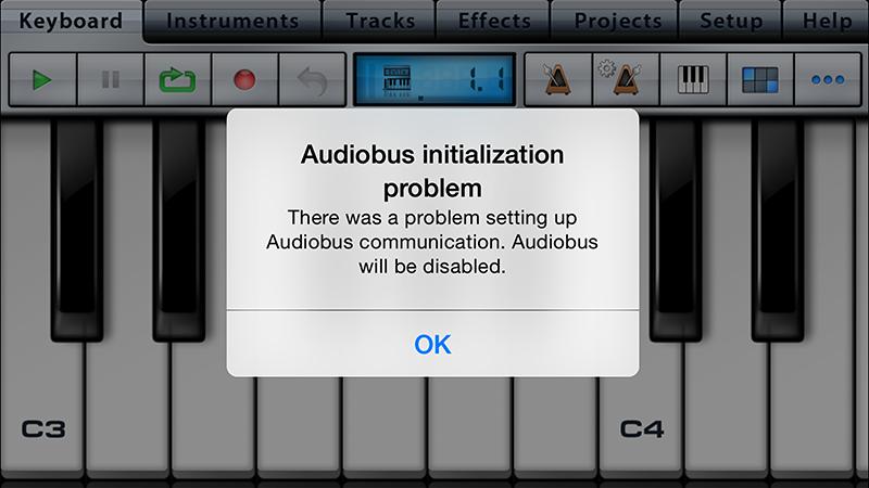様々なアプリでAudiobusに関するエラーが表示されたが、順次解消されているようだ