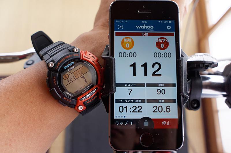 ワークアウト時間、心拍数、消費カロリーをSTB-1000に表示してみた