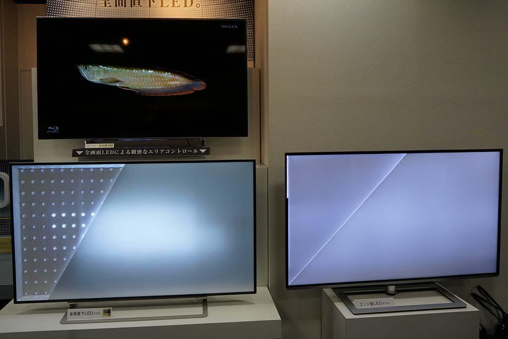 画面の映像にあわせてバックライトの部分ごとに明るさを制御