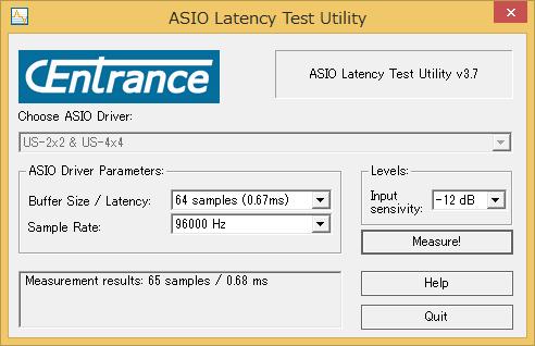 ASIO Latency Test Utilityでは正しく測定できなかった