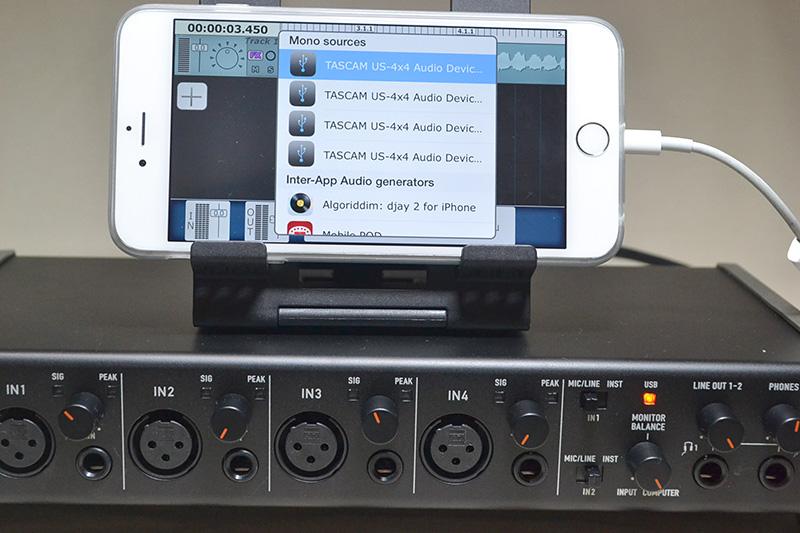 iPhone6 Plusを接続すると、4入力のデバイスとして認識