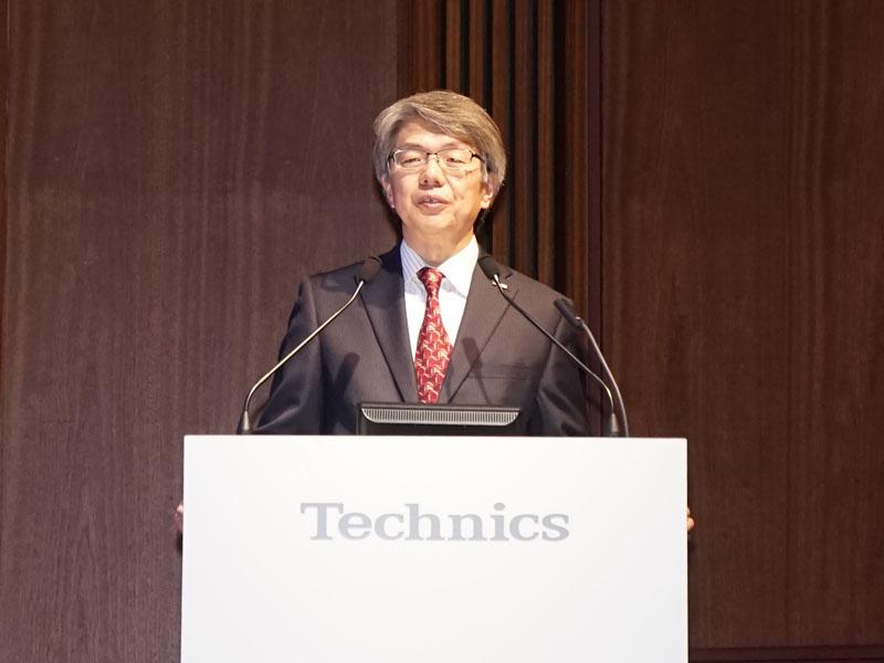 パナソニック アプライアンス社 ホームエンターテインメント事業部テクニクス技術開発担当の井谷哲也チーフエンジニア