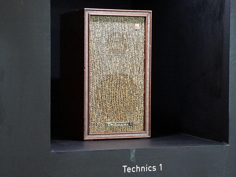 1965年発売、第1号製品のスピーカー「Technics 1」