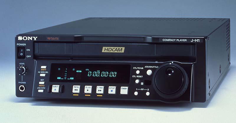 '02年に発売されたHDCAMコンパクトプレーヤー「J-H1」