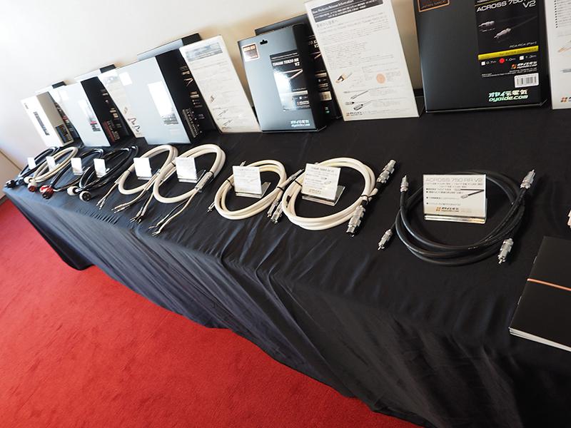 オヤイデ電気は、自社開発のオーディオケーブル新導体「102 SSC」を使った新モデルを展示。音展開幕の17日から発売が始まった