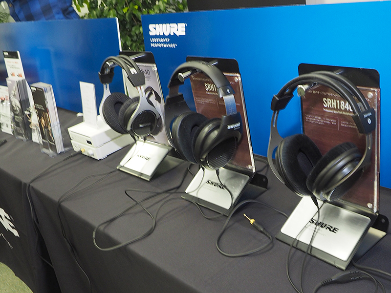 1階のHALL 3には、完実電気の扱う製品が集結。Shureのイヤフォン/ヘッドフォンや、STAXのコンデンサ型ヘッドフォン、ADL(フルテック)のヘッドフォンアンプなどの様々な機器を試聴できる