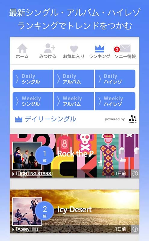 最新シングル/アルバム/ハイレゾランキング