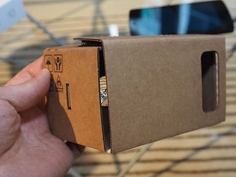 VRヘッドセットの「CardBoard」