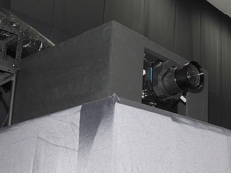 4Kデータプロジェクタの「SRX-T615」を3台使用