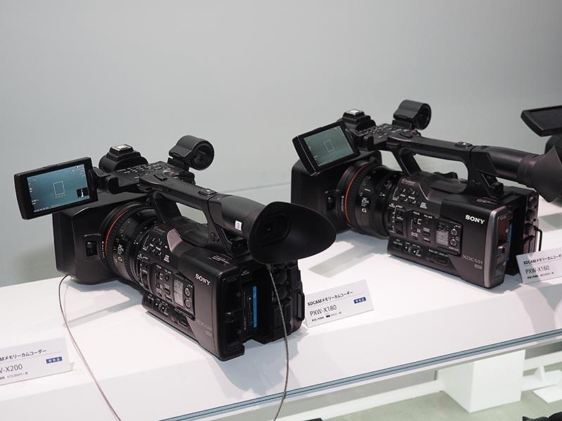新モデルのPXW-X200やPXW-X180なども展示