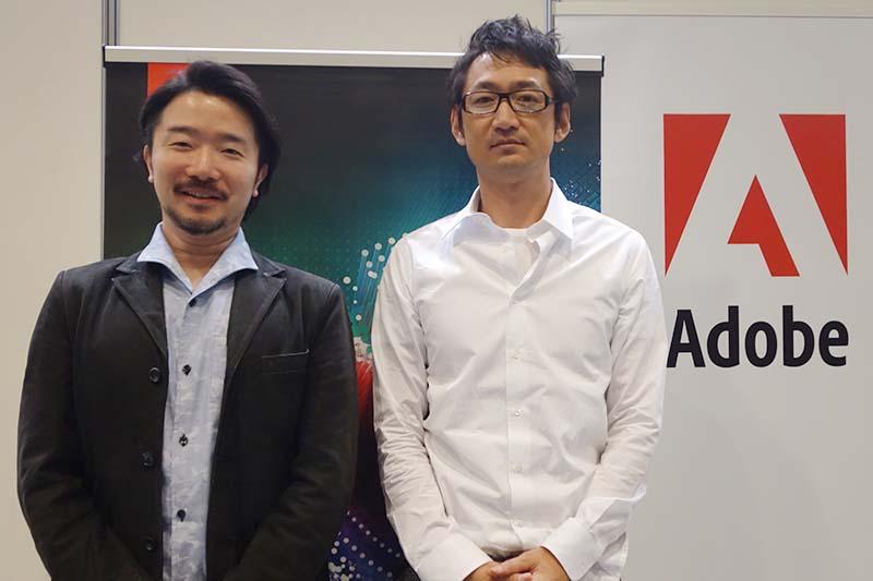 VFX・モーショングラフィックスを担当した佐藤隆之氏(左)と、今回のプロジェクトで4Kプロデューサー/ディレクターを務めた藤本ツトム氏(右)
