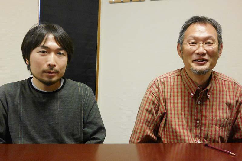 CGスーパーバイザーの鈴木健之氏(左)と八木竜一監督(右)