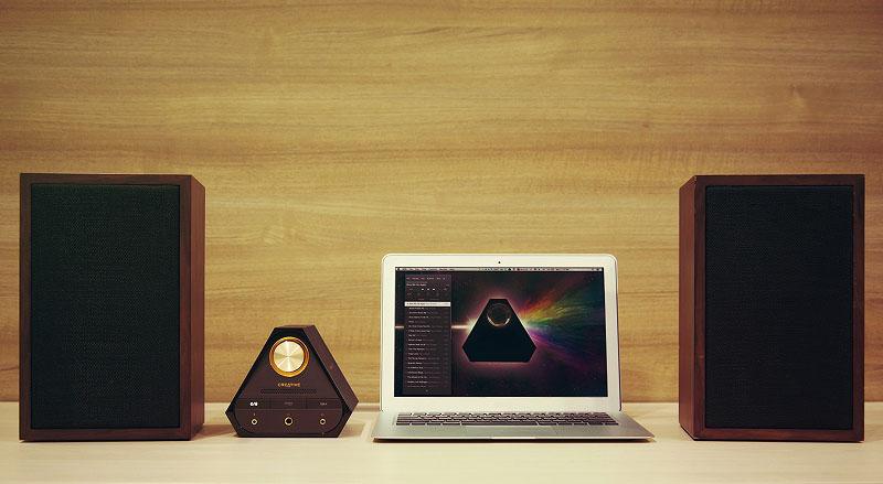 Sound Blaster X7をMacやスピーカーと組み合わせたところ