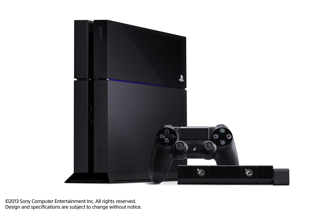 PlayStation 4本体とDUALSHOCK4コントローラ、PlayStation Camera