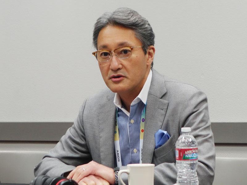 ソニー・平井一夫社長。新聞やウェブメディアの記者向けのラウンドテーブルを開催、数々の質問に答えた
