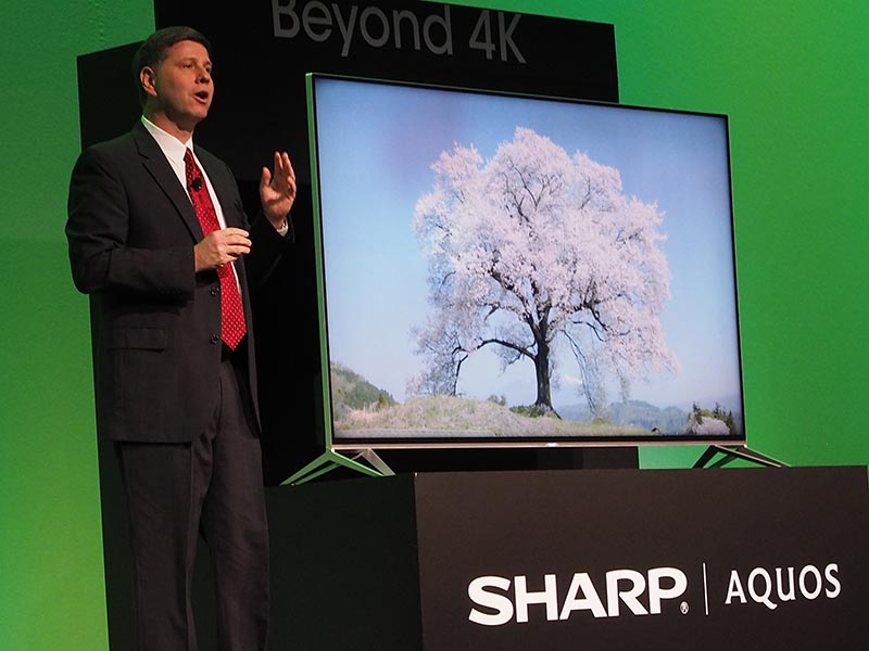 「Beyond 4K」を謳う8K相当の次世代AQUOS