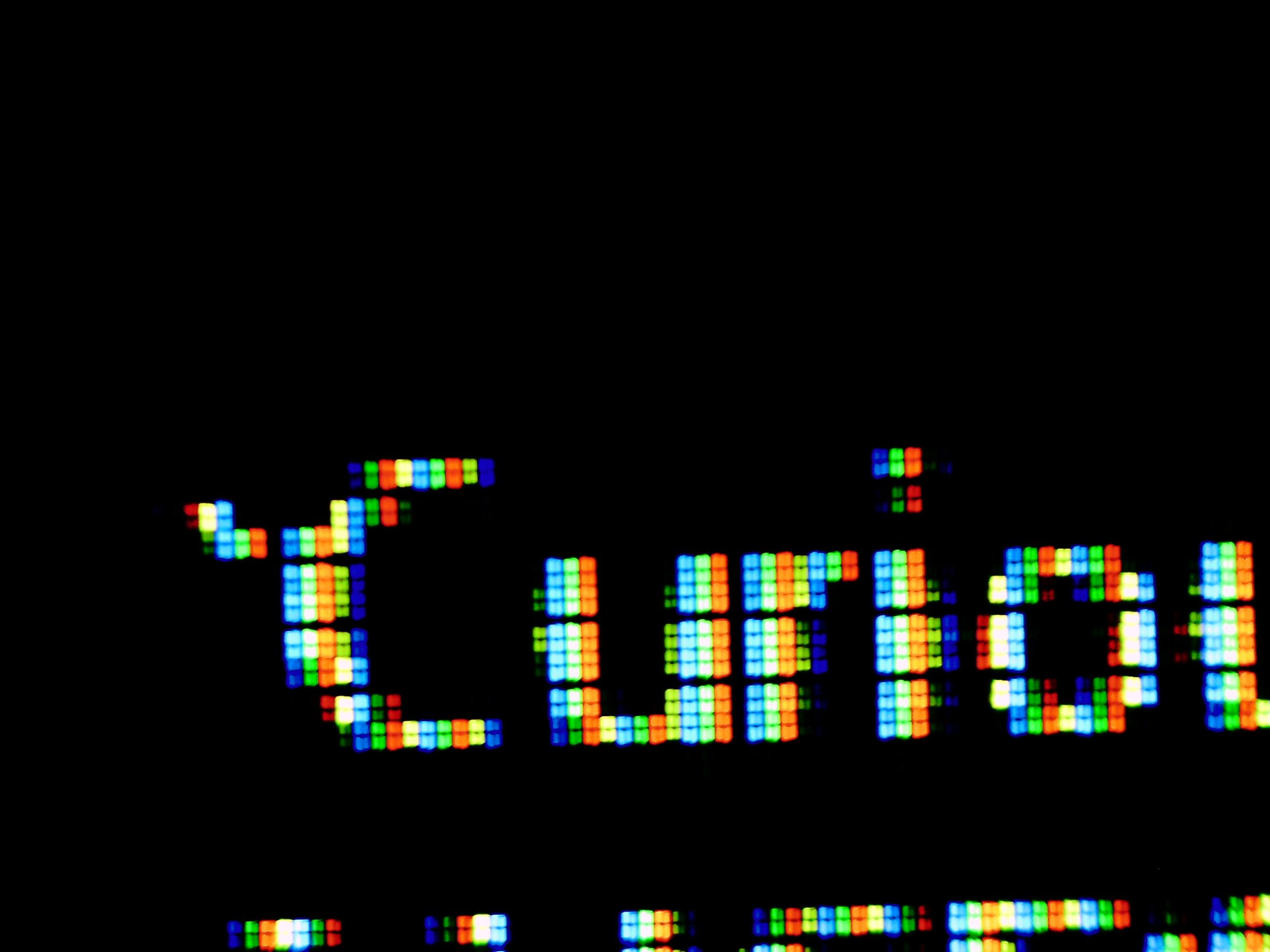 RGBY画素リアル4K液晶テレビでの疑似8K表示での表示