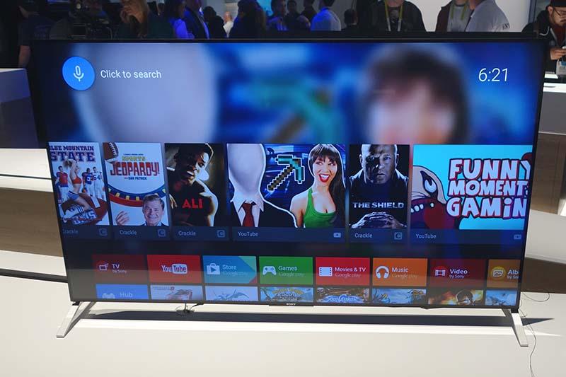 ソニーのAndroid TV。写真は薄型デザインが特徴の「X900Cシリーズ」。