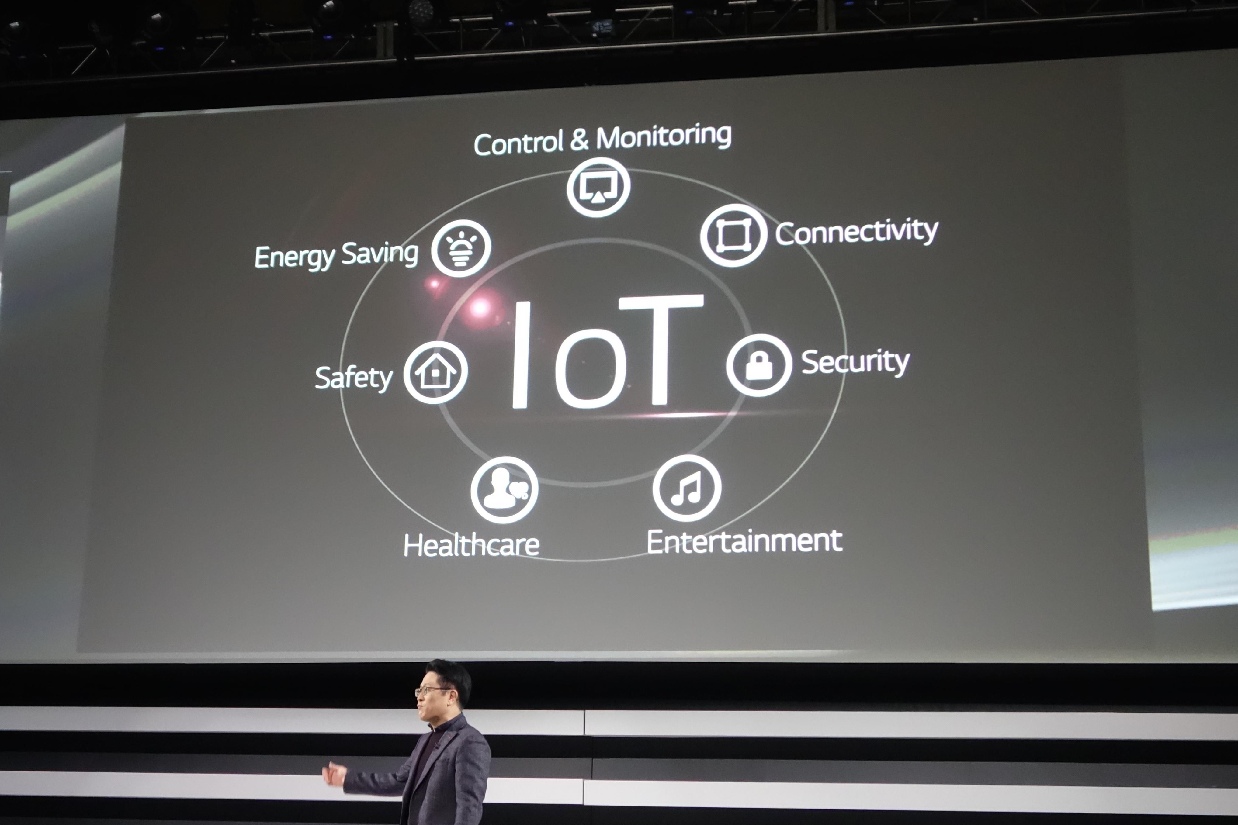 LG電子は、IoTプラットフォームを重視を宣言。「ホテル向けテレビ」も、webOSベースで作ると発表している