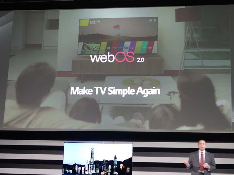 LG電子がwebOS搭載テレビで使っているのは「Make TV Simple Again」というキャッチフレーズ。スマートテレビ路線の反省でもある