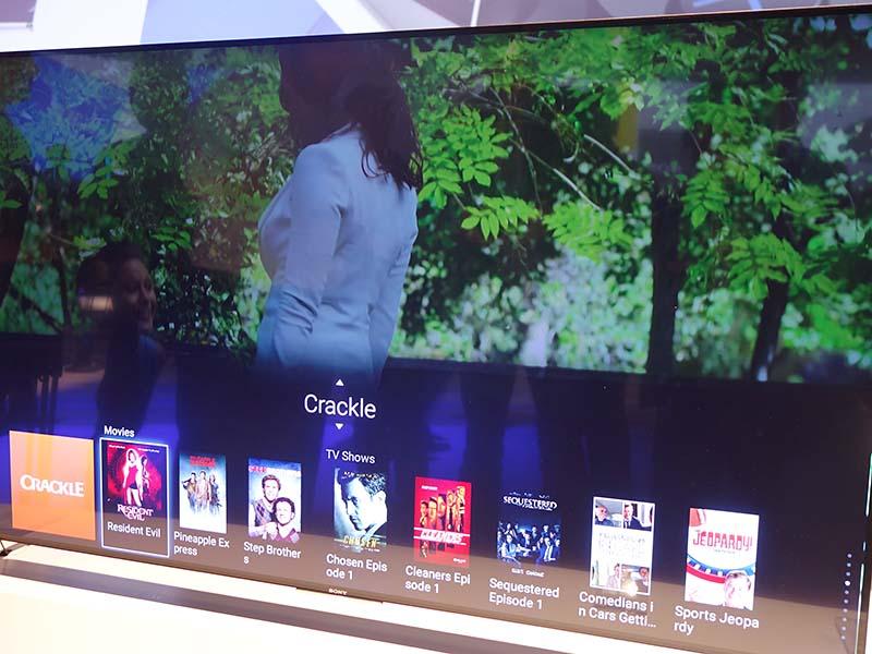 ソニーはAndroid TVにかなりのカスタマイズを加え、既存製品にも搭載していたコンテンツ表示メニュー「One Flick Entertainment」も搭載した