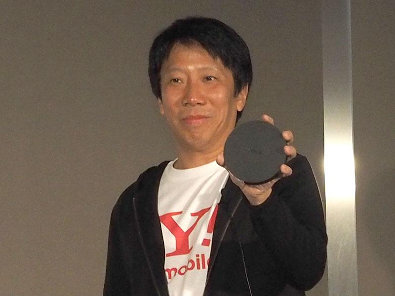 Nexus Playerを持つワイモバイルの代表取締役 兼 CEOエリック・ガン氏