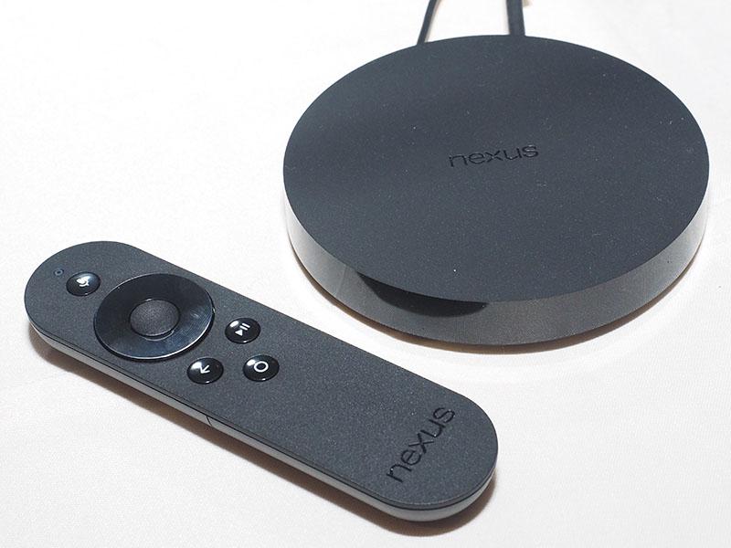 Nexus Player本体とリモコン