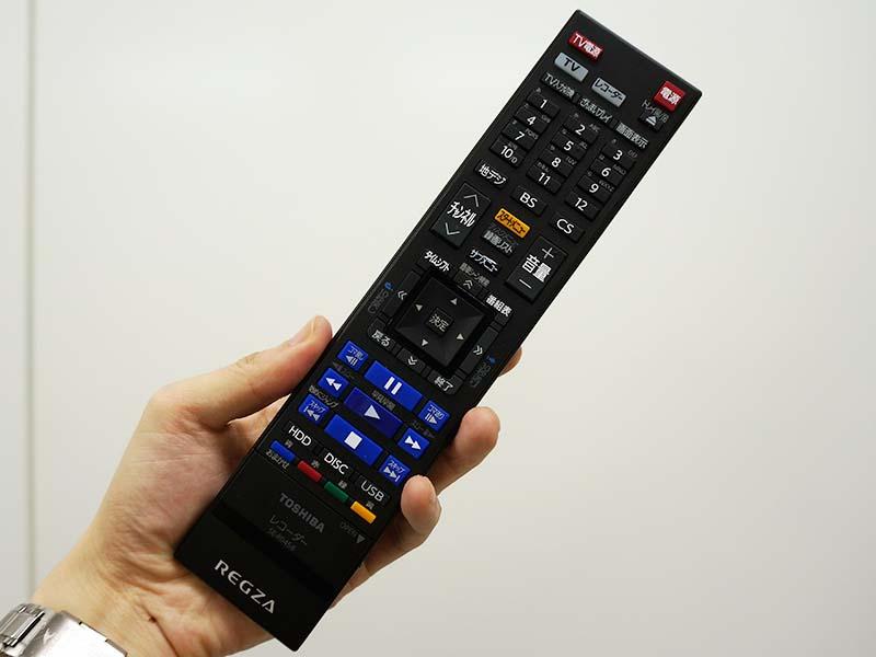 リモコンは従来のレグザサーバーと同じ。「ざんまいプレイ」などのボタンも備える