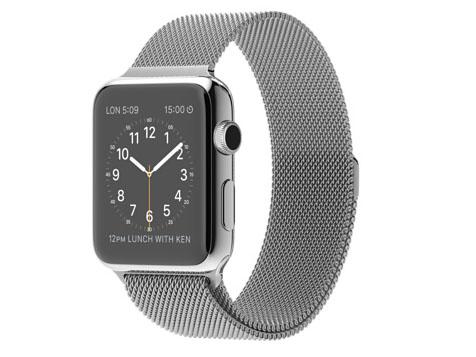 Apple Watch、42mmステンレススチールケースとミラネーゼループ