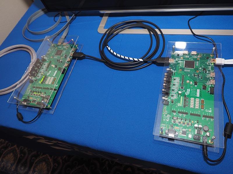 シリコンイメージのsuperMHL/HDMI 2.0対応ポートプロセッサを搭載したボード