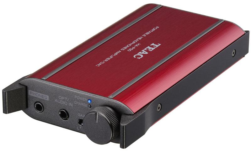 DAC内蔵ポータブルヘッドフォンアンプのレッドカラー「HA-P50-R」