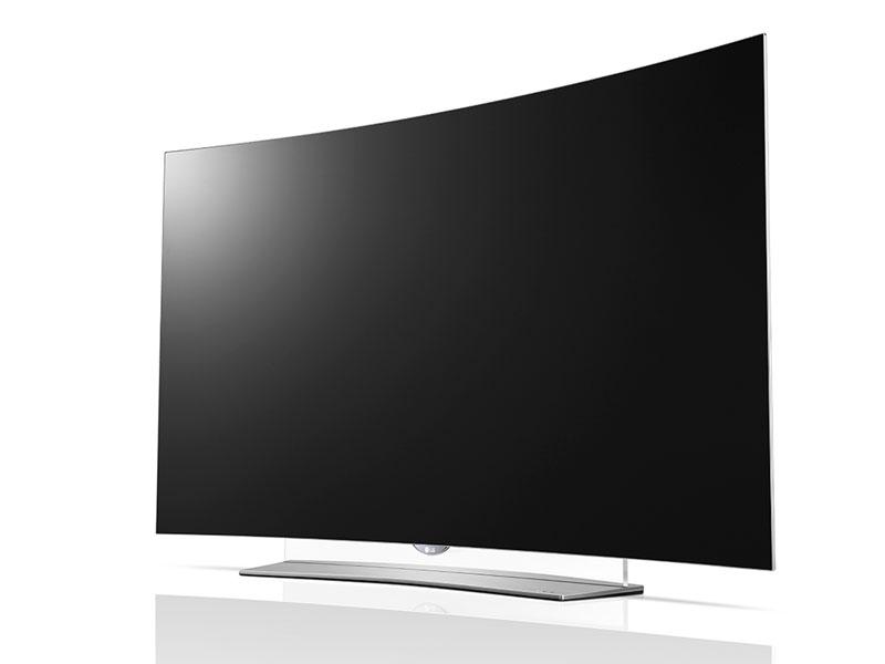 55EG9600は55型の4K有機ELテレビ。曲面型となっている