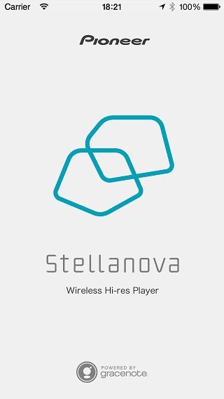 「Wireless Hi-Res Player Stellanova」アプリ