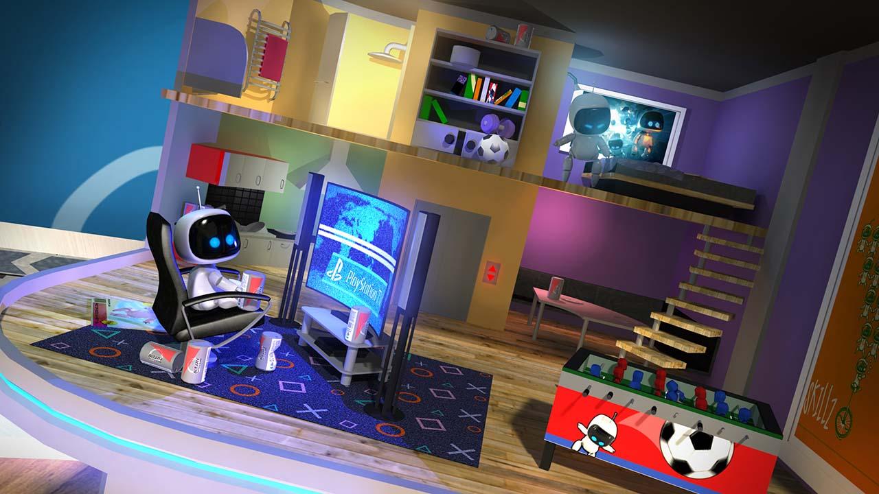 「Bedroom Robots」。コントローラーは使わず、画面内に住むARボットの生活を眺めて楽しむコンテンツだ。見たいものに実際に近寄り、視線を向けるとARボットが反応する。