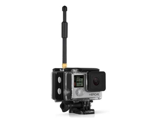 GoProの背面にHEROCastを取り付け、一体化できる「HEROCast BACPAC 」
