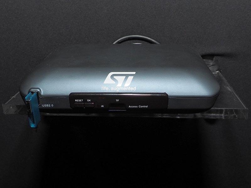 ST Microのチップを使ったSTB試作機もデモに使用している
