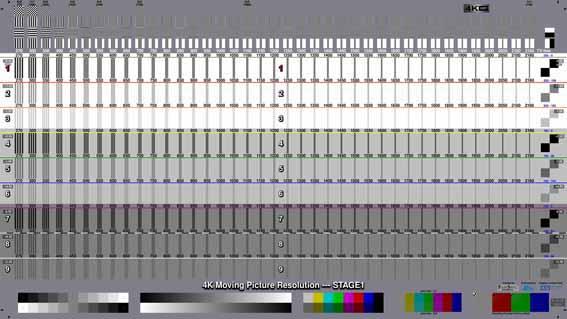 動画解像度評価・測定パターン