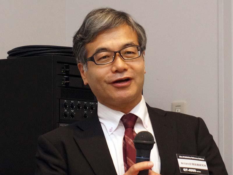 計測技術研究所 顧問の川原功氏が、4K動画解像度評価パターンを解説