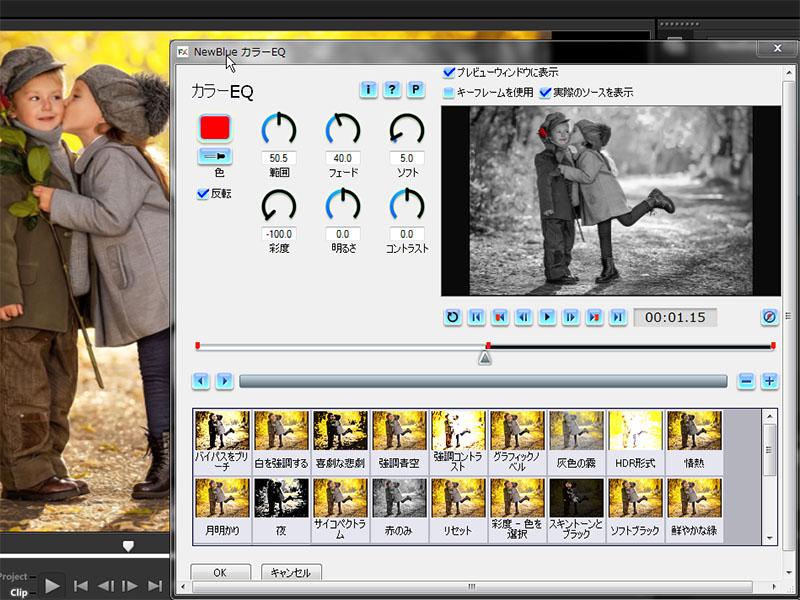 NewBlueFX VideoEssentials IIの設定画面