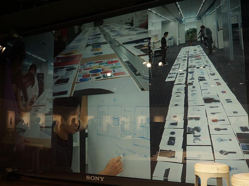 「Sony Design : MAKING MODERN」制作作業の1コマ