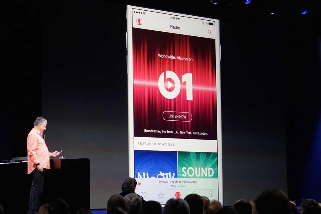 Beatsブランドを介したネットラジオ「Beats1」。視聴は無料で、Apple Music利用者以外も楽しめる