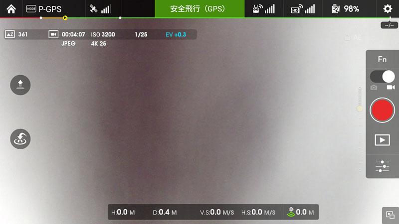カメラモードの標準画面