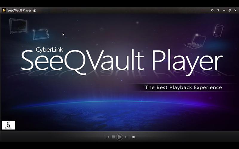 サイバーリンクのPC用再生ソフト「SeeQVault Player」