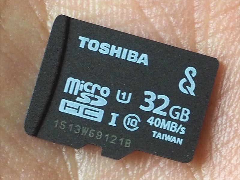 SQV対応microSDカードの32GBモデル