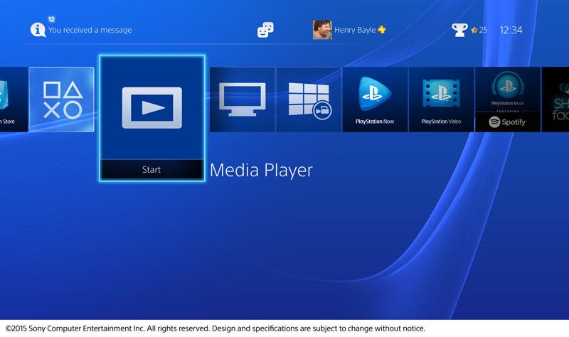 Media PlayerがPlayStation Storeからダウンロードできる