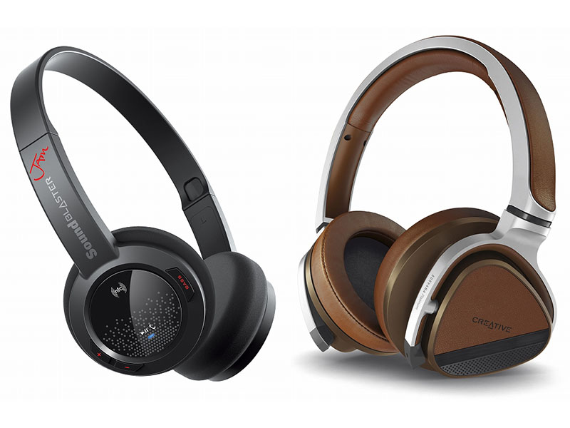 Sound Blaster JAM(左)、Aurvana Platinum(右)に対応