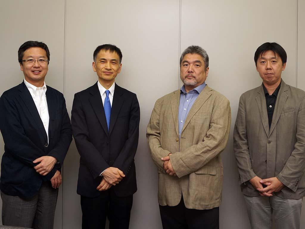 TBSテレビ 龍宝正峰氏、河合俊明常務取締役、日本テレビ 若井真介氏、プレゼントキャスト 須賀久彌社長