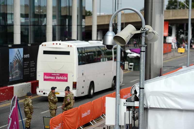 ロンドン五輪では、シアターや監視カメラなどで協力